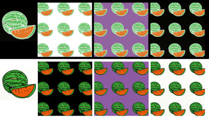 A set, of a pop art composition.