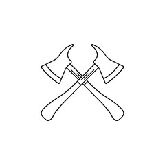 fire axes illustration. Element of firefighter for mobile concept and web apps. Thin line illustration of fire axes can be used for web and mobile. Premium icon