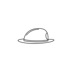 fire hat illustration. Element of firefighter for mobile concept and web apps. Thin line illustration of fire hat can be used for web and mobile. Premium icon