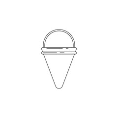 fire cone bucket illustration. Element of firefighter for mobile concept and web apps. Thin line illustration of fire cone bucket can be used for web and mobile. Premium icon