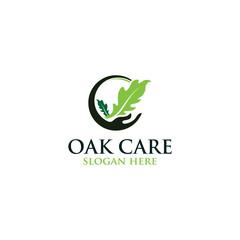 Oak care leaf vector logo isolated. Logo templates.