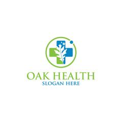 Oak health vector logo isolated. Logo templates.