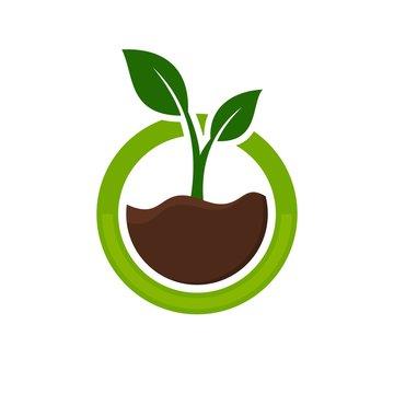 tree logo. ecology icon. nature symbol. vectro eps 08.
