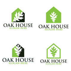 Oak home vector logo set. Logo templates.
