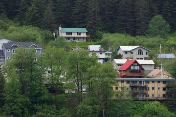 Juneau residential district up close