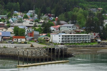 Juneau residential district and harbor