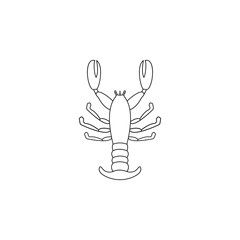 cancer illustration. Element of sea animal for mobile concept and web apps. Thin line cancer illustration can be used for web and mobile. Premium icon
