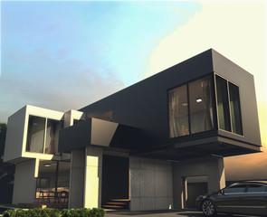 rendering, san marino house