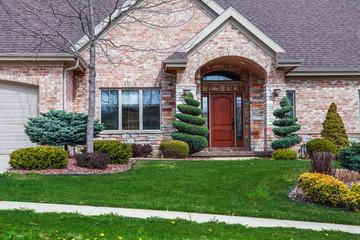 Close up suburban house