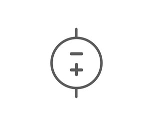 Battery positive and negative icon