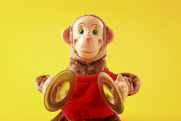Mechanical monkey toy with cymbals