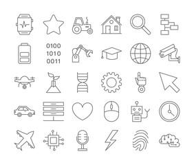 AI icons set.