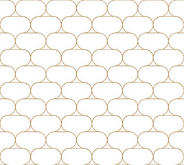 Gold line pattern vector. Geometric background. Oriental style.