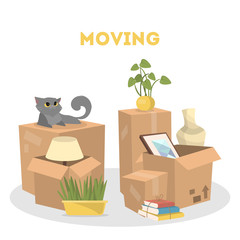 Moving to a new house.