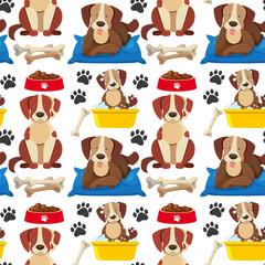 A Seamless Wallpaper of Dog