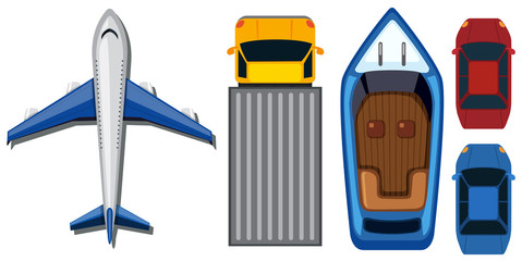 Types of Transportation from Top View