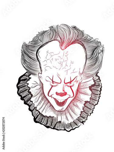 Nice And Beautiful Abstract Or Poster For Clown Face Or Joker Face