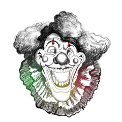 nice and beautiful abstract or poster for Clown Face or Joker Face with nice and creative illustration.