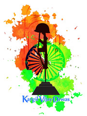 nice and beautiful abstract or poster for Kargil Vijay Diwas with nice and creative design illustration.