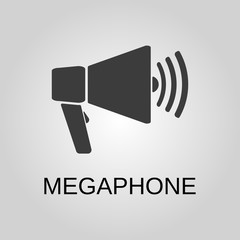 Megaphone icon. Megaphone symbol. Flat design. Stock - Vector illustration