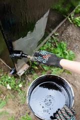 Bitumen waterproofing. Construction techniques for waterproofing basement, foundations, metal frames