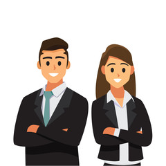 businessmen consulting  .Business people concept cartoon illustration