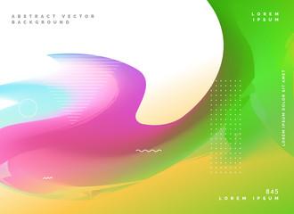 colorful wavy fluid gradient color background