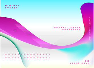 abstract wavy poster design background