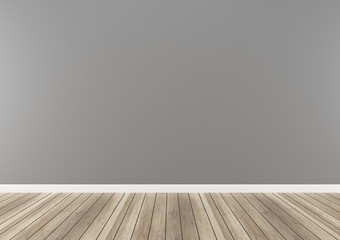 gray wall paint concrete wood floor 3d render texture background template