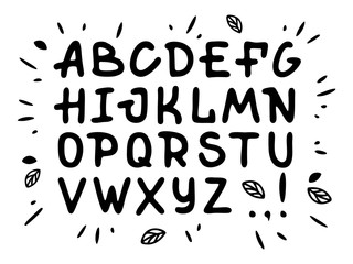 Veranda cursive font. Vector alphabet with latin letters in black and white theme