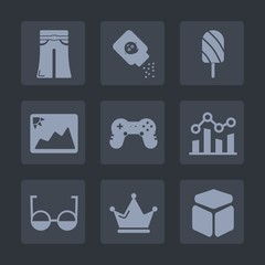 Premium set of fill icons. Such as eyeglasses, business, graph, cube, image, care, finance, eye, summer, king, black, elegant, skin, food, woman, ice, talcum, talc, chart, queen, bottle, female, fruit