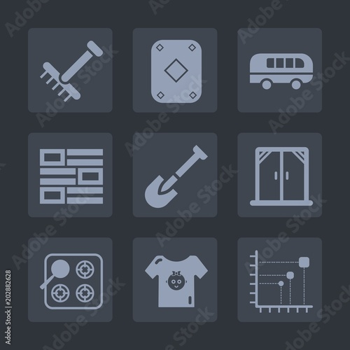 c23242869 Premium set of fill icons. Such as house