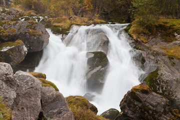 Small Waterfall on the Briksdalselva