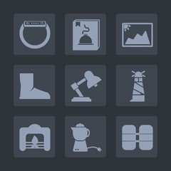 Premium set of fill icons. Such as tea, watch, technology, ocean, teapot, fire, touch, button, beacon, oxygen, time, old, breakfast, picture, photography, photo, drink, home, boot, warm, equipment