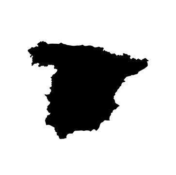 map of Spain. vector illustration