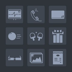 Premium set of fill icons. Such as modern, tennis, smart, space, menu, picture, sport, internet, fun, blackboard, chalk, leisure, photo, game, pulse, frame, communication, ball, rate, blank, sign, box