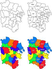 横浜市地図(区割り)