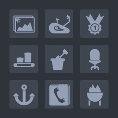 Premium set of fill icons. Such as mountain, comfortable, bike, meat, chair, armchair, marine, sandbox, old, competition, phone, fitness, award, achievement, blank, sand, victory, internet, barbecue