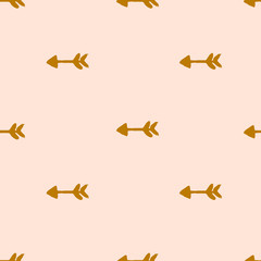 Seamless arrow pattern. Endless hand drawn geometrical background. Cute design, wrapping paper. Vector illustration.