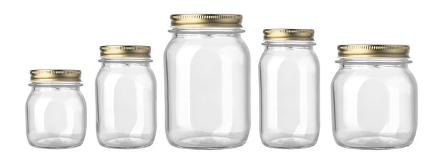 empty glass jar isolated Wall mural