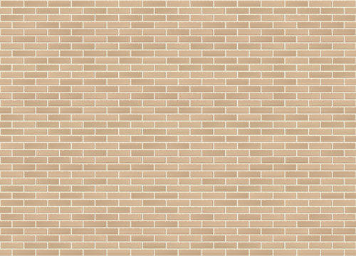Vector seamless stretcher mixed bond sandstone brick wall texture