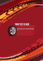Automotive Tire Background