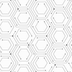 Monochrom technology seamless pattern