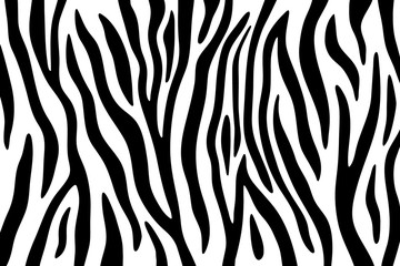 Zebra stripes black and white abstract background. Wall mural
