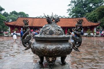 The Van Mieu Quoc Temple in Hanoi, Vietnam.