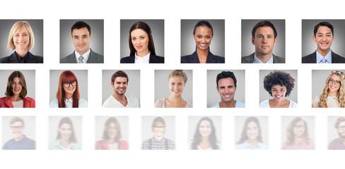 Portrait collage line big against portrait collage line big