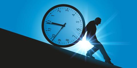 temps - temps qui passe - compte à rebours - délai - horaire - retenir - arrêter - concept - course - heure