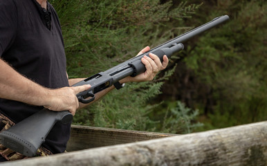 Loading Pump Action Shotgun