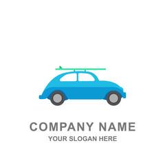 Summer Holiday Travel Car Rental Logo Vector Illustration