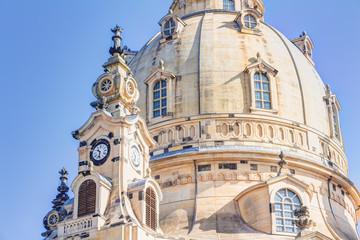 Frauenkirche am Neumarkt in der Altstadt von Dresden